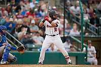 Rochester Red Wings Wilin Rosario (20) at bat during an International League game against the Buffalo Bisons on May 31, 2019 at Frontier Field in Rochester, New York.  Rochester defeated Buffalo 5-4 in ten innings.  (Mike Janes/Four Seam Images)