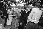 Eton College Parents Day 4th June 1978.<br /> <br /> Agar's Plough, the school famious playing fields, an inter-house cricket match is in progress.