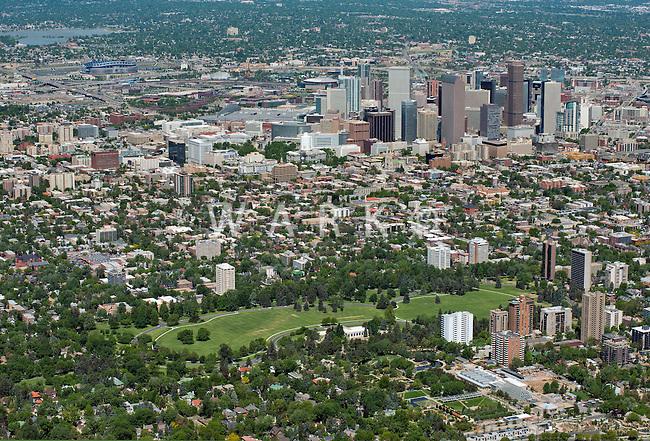 Cheesman Park, downtown Denver skyline. June 2013