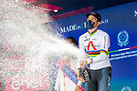 World Champion Filippo Ganna (ITA) Ineos Grenadiers wins Stage 1 of the 2021 Giro d'Italia, and individual time trial running 8.6km around Turin, Italy. 8th May 2021.  <br /> Picture: LaPresse/Alessandro Bremec   Cyclefile<br /> <br /> All photos usage must carry mandatory copyright credit (© Cyclefile   LaPresse/Alessandro Bremec)