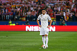 Real Madrid´s James Rodriguez during quarterfinal first leg Champions League soccer match at Vicente Calderon stadium in Madrid, Spain. April 14, 2015. (ALTERPHOTOS/Victor Blanco)