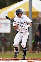 Georgetown Hoyas shortstop Ryan Busch (1) during a game against the Illinois State Redbirds on March 7, 2015 at North Charlotte Regional Park in Port Charlotte, Florida.  Illinois State defeated Georgetown 2-1.  (Mike Janes/Four Seam Images)