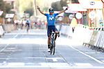Alejandro Valverde (ESP) Movistar Team wins the Gran Premio Miguel Indurain 2021, running 203.2km from Estella to Lizarra, Spain. 3rd April 2021.  <br /> Picture: Luis Angel Gomez/Photogomezsport | Cyclefile<br /> <br /> All photos usage must carry mandatory copyright credit (© Cyclefile | Luis Angel Gomez/Photogomezsport)