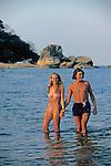 Couple At Livingstonia Hotel Beach