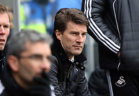 Pictured: Michael Laudrup manager for Swansea. Saturday 30 March 2013<br /> Re: Barclay's Premier League, Swansea City FC v Tottenham Hotspur at the Liberty Stadium, south Wales.