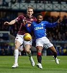 03.04.2019 Rangers v Hearts: Christophe Berra and Jermain Defoe
