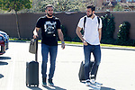 Spain's Daniel Carvajal (l) and Nacho Fernandez arrive to the national football team stage. March 20,2017.(ALTERPHOTOS/Acero)