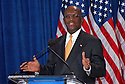 """AJ Alexander - 11-08-11, Herman Cain Defends Himself in a Press Confrence to dispute a sexual harassment allegations made by Sharon Bialek. He also accused the """"Democratic Machine"""" of manufacturing the controversy, at the Scottsdale Plaza Resort, in Scottsdale Arizona, on Tuesday afternoon, November 08, 2011..Photo by AJ Alexander"""