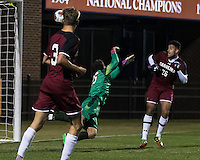 Clemson, SC - November 20, 2016: The third seed Clemson University Tigers play The University of South Carolina Gamecocks in the second round of the NCAA Division I Championship at Historic Riggs Field.  Final score Clemson 2, South Carolina 1, in overtime.