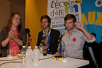 August 16 2012 file photo - Montreal, Quebec, CANADA -  students leader Martine Desjardins (R)<br />