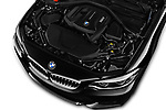 Car stock 2018 BMW 2 Series M Sport 2 Door Convertible engine high angle detail view