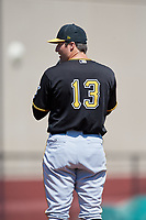 Pittsburgh Pirates pitcher Jacob Taylor (13) during a Minor League Spring Training game against the Philadelphia Phillies on March 23, 2018 at the Carpenter Complex in Clearwater, Florida.  (Mike Janes/Four Seam Images)