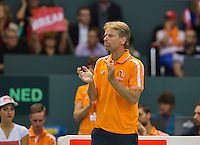 Switserland, Genève, September 20, 2015, Tennis,   Davis Cup, Switserland-Netherlands, Captain Jan Siemerink (NED)<br /> Photo: Tennisimages/Henk Koster