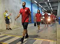 Couva, Trinidad & Tobago - Tuesday Oct. 10, 2017: Clint Dempsey, Graham Zusi during a 2018 FIFA World Cup Qualifier between the men's national teams of the United States (USA) and Trinidad & Tobago (TRI) at Ato Boldon Stadium.