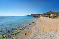 Soros beach of Antiparos island in Cyclades, Greece
