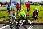 After completing the Comfort for Chemo cycling fundraiser at the UHK on Saturday. Kneeling l to r: Cora Walsh, Linda Woods and Mairead Enright. Back l to r: Janet Slye, Maurice Whelan, Zac Boyle and Mags Barry.