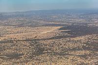 Tanzania.  Mwiba Airstrip, Aerial View, Serengeti Migration Area.