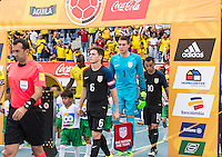 Barranquilla, Colombia - March 25, 2016: The U.S. Men's U-23 National team play to a 1-1 draw versus Colombia in 2016 Olympic Qualifying playoff action at Estadio Metropolitano Roberto Meléndez.