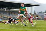Jack Barry, Kerry, scores his side's sixth goal during the Allianz Football League Division 1 Semi-Final, between Tyrone and Kerry at Fitzgerald Stadium, Killarney, on Saturday.