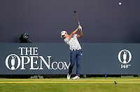 160719 | The 148th Open - Tuesday Practice<br /> <br /> Yuki Inamori of Japan on the first tee during practice for the 148th Open Championship at Royal Portrush Golf Club, County Antrim, Northern Ireland. Photo by John Dickson - DICKSONDIGITAL