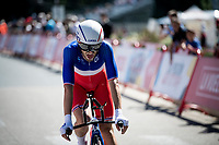 National French TT champion Benjamin Thomas (FRA/Groupama - FDJ) finishing stage 10 (ITT) from Jurançon to Pau (36.2km) > in FRANCE!<br /> <br /> La Vuelta 2019<br /> <br /> ©kramon
