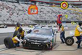 NASCAR Xfinity Series<br /> Fitzgerald Glider Kits 300<br /> Bristol Motor Speedway, Bristol, TN USA<br /> Saturday 22 April 2017<br /> Daniel Suarez, Juniper Toyota Camry, makes a pit stop.<br /> World Copyright: Russ LaBounty/LAT Images<br /> ref: Digital Image 17BRI1jh_03167