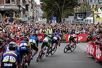 Huge crowds in Leuven<br /> <br /> Elite Men World Championships - Road Race<br /> from Antwerp to Leuven (268.3km)<br /> <br /> UCI Road World Championships - Flanders Belgium 2021<br /> <br /> ©kramon