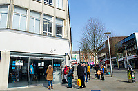 Pictured: A general view of Barclays Swansea City Centre during the Covid-19 Coronavirus pandemic in Wales, UK, Swansea, Wales, UK. Monday 23 March 2020