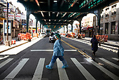 Queen, New York<br /> April 25, 2020<br /> Elmhurst<br /> <br /> People come out during quarantine at the epicenter of the coronavirus in New York City and the Untied States.