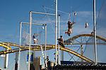 Acrobat lessons on the Santa Monica  Pier