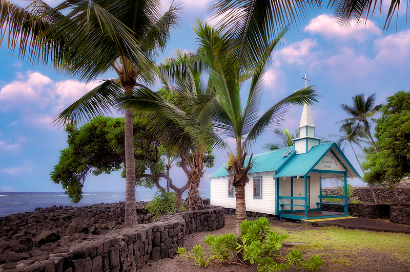 St. Peter's Catholic Church. Kona, Hawaii The Big Island.