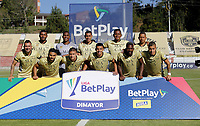 RIONEGRO - COLOMBIA, 30-01-2021: Jugadores de Rionegro Aguilas Doradas, posan para una foto, antes de partido de la fecha 3 entre Rionegro Aguilas Doradas y el Independiente Santa Fe por la Liga BetPlay DIMAYOR I 2021, jugado en el estadio Alberto Grisalesde la ciudad de Rionegro. / Players of Rionegro Aguilas Doradas, pose for a photo, prior a match of the 3rd date between Rionegro Aguilas Doradas and Independiente Santa Fe for the BetPlay DIMAYOR I 2021 League, played at Alberto Grisales stadium in Rionegro city. / Photo: VizzorImage / Juan Cardona / Cont.
