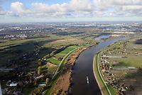 Deichrückverlegung Ellerholz: EUROPA, DEUTSCHLAND, HAMBURG 29.10.2019: Deichrückverlegung Ellerholz dahinter Kreetsand
