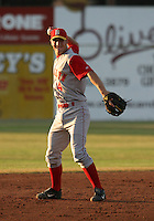 July 25, 2005:  Shortstop Jonathan (Jon) Malo of the Brooklyn Cyclones during a game at Dwyer Stadium in Batavia, NY.  Brooklyn is the NY-Penn League Class-A affiliate of the New York Mets.  Photo by:  Mike Janes/Four Seam Images
