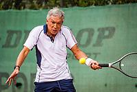 Hilversum, The Netherlands,  August 20, 2021,  Tulip Tennis Center, NKS, National Senior Tennis Championships, Men's 70+,  Rolf Thung (NED)<br /> Photo: Tennisimages/Henk Koster