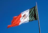 Mexican Flag Mexico. Nuevo Laredo Tamaulipas Mexico.