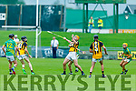 Abbeydorney's Michael O'Leary tussle for possession against Lixnaw in the Senior Hurling Championship quarter final.
