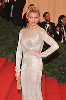 Cameron Diaz at the 'Schiaparelli And Prada: Impossible Conversations' Costume Institute Gala at the Metropolitan Museum of Art on May 7, 2012 in New York City. ©mpi03/MediaPunch Inc.