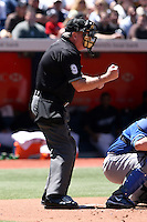 May 25th 2008:  Major League Umpire Brian Gorman during a game at the Rogers Centre in Toronto, Ontario, Canada.  Photo by:  Mike Janes/Four Seam Images