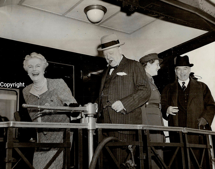 A Happy wife and mother welcomes Mr. Churchill and Mary back to Quebec after trip to see Roosevelt<br /> <br /> <br /> [unknown]<br /> Picture, 1943<br /> <br /> PHOTO : Toronto Star Archives - AQP