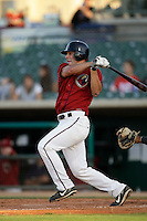 May 31 2009: David Flores of the Lancaster JetHawks during game against the Modesto Nuts at Clear Channel Stadium in Lancaster,CA.  Photo by Larry Goren/Four Seam Images