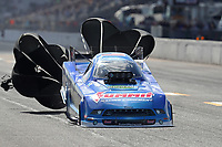 Oct 4, 2020; Madison, Illinois, USA; NHRA funny car driver Dan Wilkerson during the Midwest Nationals at World Wide Technology Raceway. Mandatory Credit: Mark J. Rebilas-USA TODAY Sports