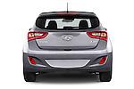 Straight rear view of 2015 Hyundai I30 Joy 5 Door Hatchback stock images