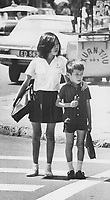 1973 FILE PHOTO -<br /> <br /> Home coming from school