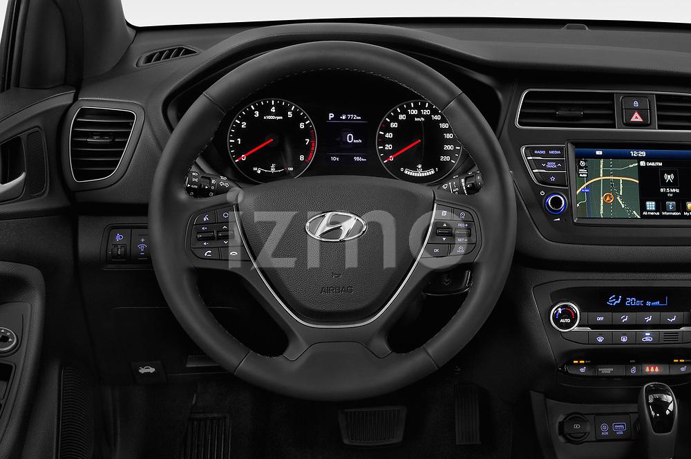 Car pictures of steering wheel view of a 2019 Hyundai i20 Twist 5 Door Hatchback