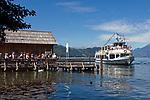 Oesterreich, Kaernten, Millstaetter See, Doebriach: Schiffsanlegestelle fuer die Seenrundfahrt | Austria, Carinthia, Lake Millstatt, Doebriach: landing stage for sightseeing boat