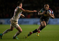 Harlequins' Francis Saili in action during todays match<br /> <br /> Photographer Bob Bradford/CameraSport<br /> <br /> Gallagher Premiership Round 9 - Harlequins v Exeter Chiefs - Friday 30th November 2018 - Twickenham Stoop - London<br /> <br /> World Copyright © 2018 CameraSport. All rights reserved. 43 Linden Ave. Countesthorpe. Leicester. England. LE8 5PG - Tel: +44 (0) 116 277 4147 - admin@camerasport.com - www.camerasport.com