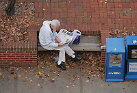 newspaper reading relaxing
