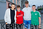 Denis Horgan (Ardfert), Brendan Connor (Tralee), Darragh Courtney (Ardfert) and Tom Marley (Ardfert) after receiving their Leaving Cert results.