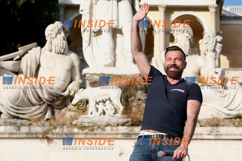 Alessandro Zan during the demonstration in Piazza del Popolo organized for many associations Lgbtqia and femminists, for the approval of the Zan bill, born to contrast the homostransphobia and any kind of racist violence. <br /> Rome (Italy), May 15th 2021<br /> Photo Samantha Zucchi Insidefoto